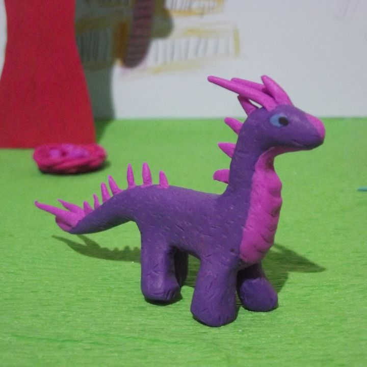 Purple clay dragon - Wyverntales