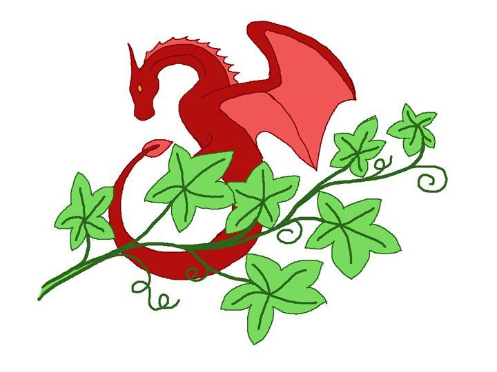 Wyvern in ivy - Wyverntales