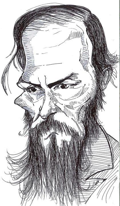 Fyodor Dostoyevsky Sketch - Jov