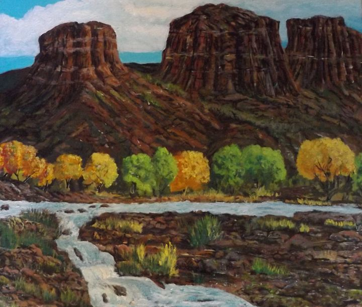 Sedona 1 - Shells landscapes and ink abstracts