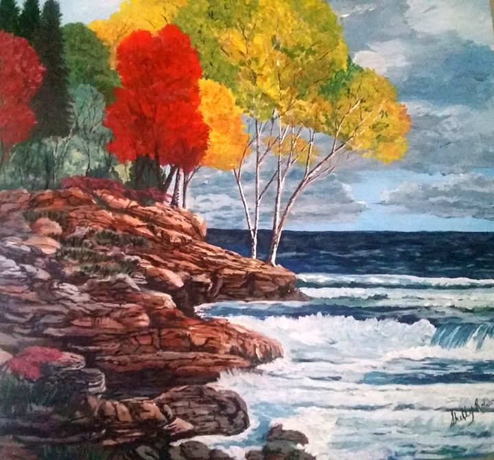 Lake Superior Autumn - Shells landscapes and ink abstracts