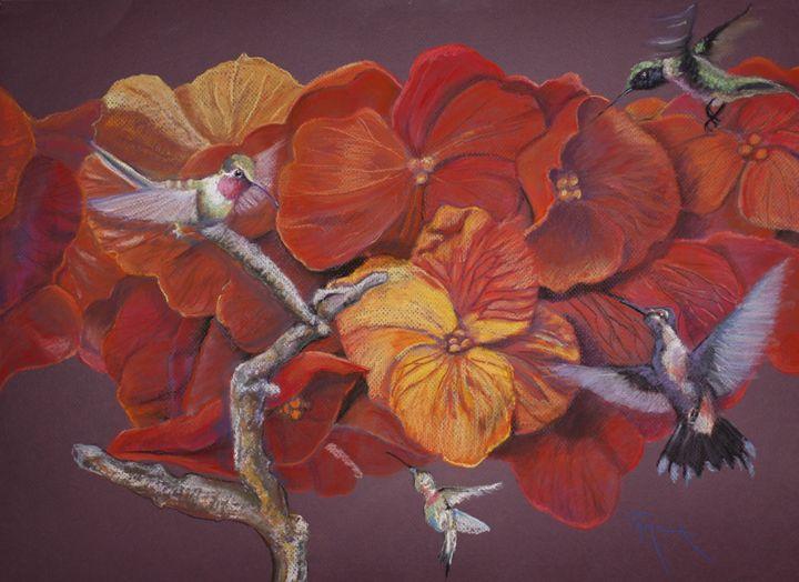 wallflowers and hummingbirds - pamela mccabe's gallery