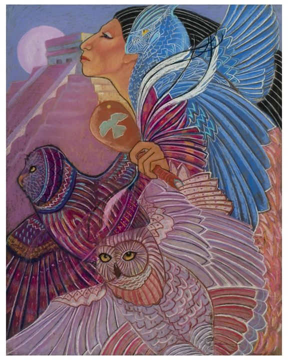 owl woman at Chichen Itza - pamela mccabe's gallery