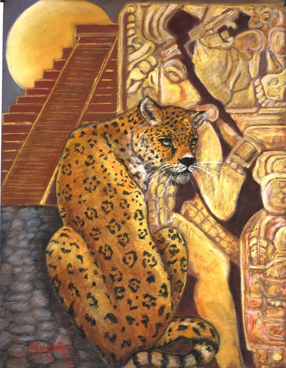 jaguar at palenque temple - pamela mccabe's gallery