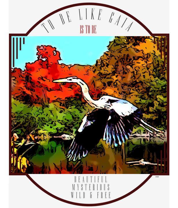 The Great Blue Heron - Aaron Scott Badgley