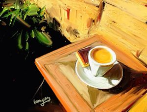 An Espresso in the Garden