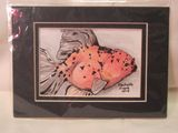 5 x 7 ink and watercolor Sakura