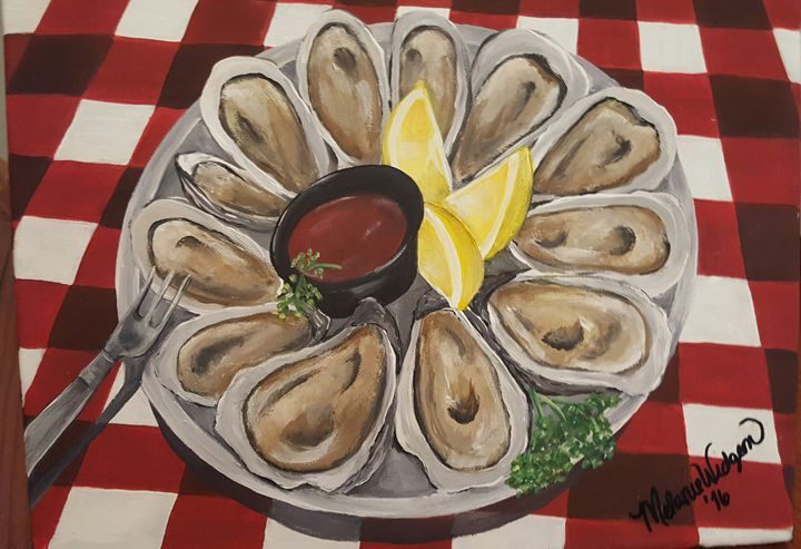 Oysters on the Half Shell -  Shorelovepaintings