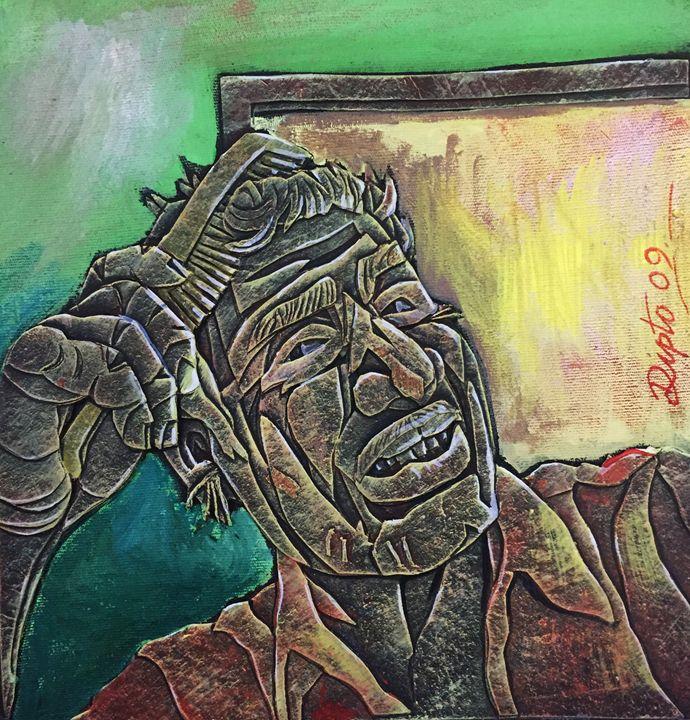 Self portrait  [Diary series] - Dipto Narayan Chattopadhyay