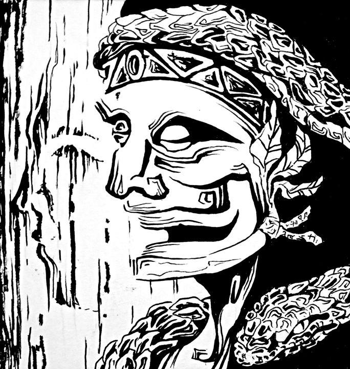 Indigenous portrait - Samuel Rios Cuevas