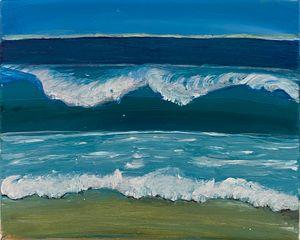 Sea shore calming waves