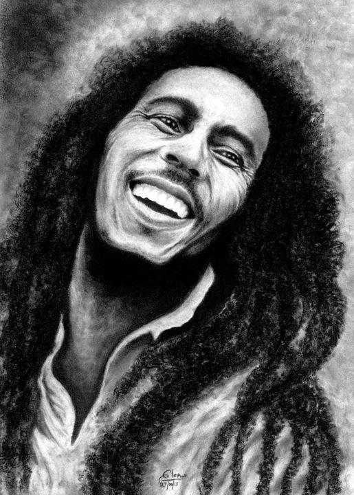 Bob Marley - CHARCOAL ART