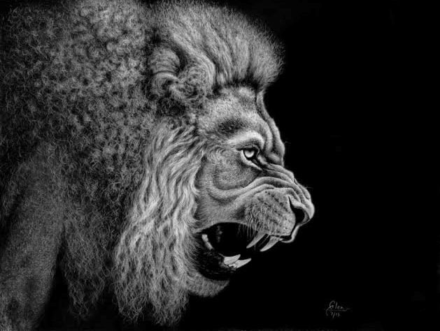 Born To Rule - CHARCOAL ART