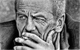 "Original Charcoal Art ""The Thinker"""