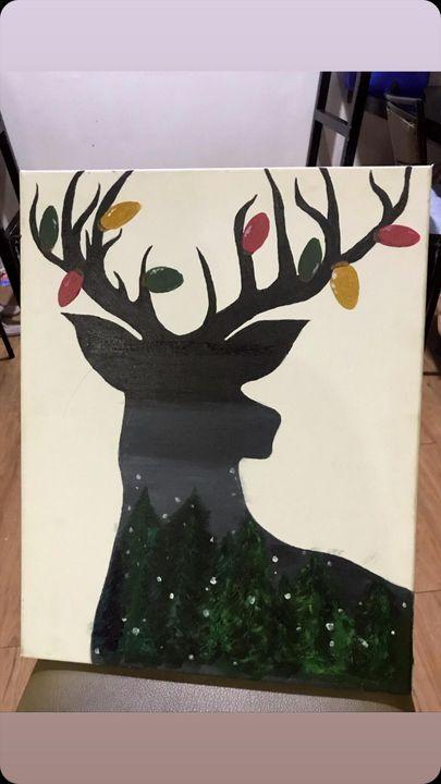 Christmas dear Acrylic on Canvas - Ely G