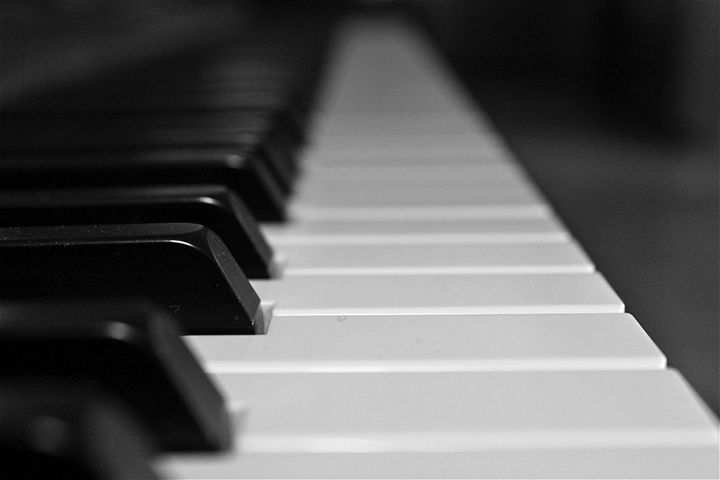 Piano in Black & White - Baltimore Bohemian