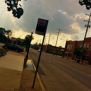 Bus Stop On Main Street
