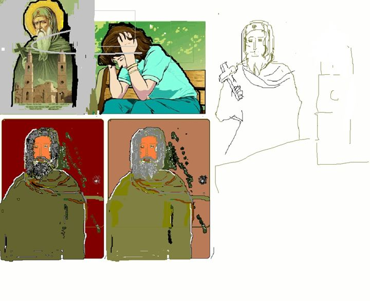 Ascetic person - Images and colors