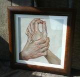 20.20 cm copied pastel painting