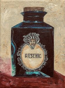 OLD FRENCH ARSENIC BOTTLE