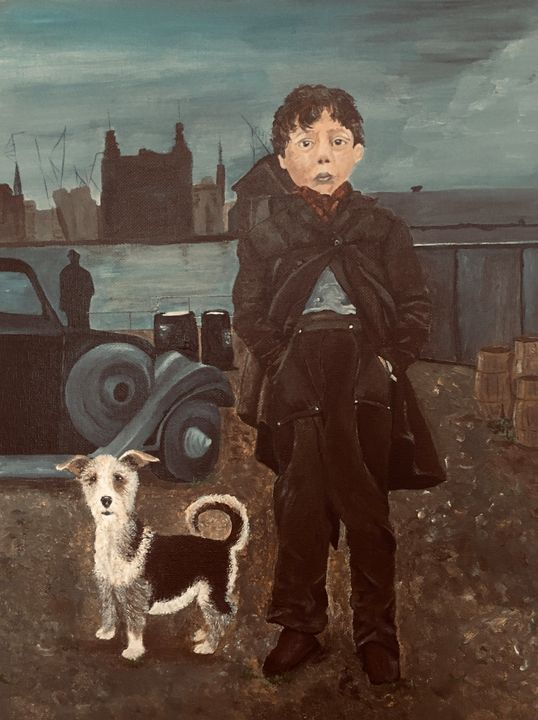 ALBERT AND DOG - ARTBYKERINFREEMAN