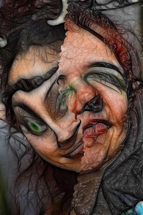 Split Personality - Abstract Digital Fine Art