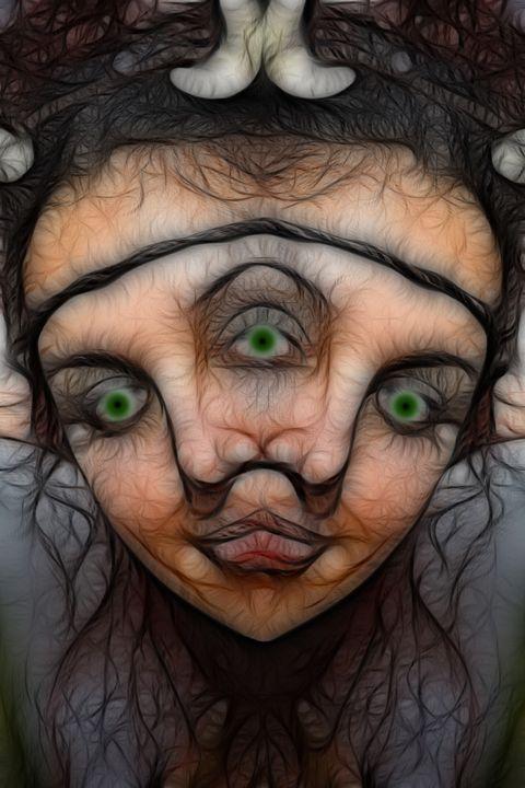 Three's Company - Abstract Digital Fine Art