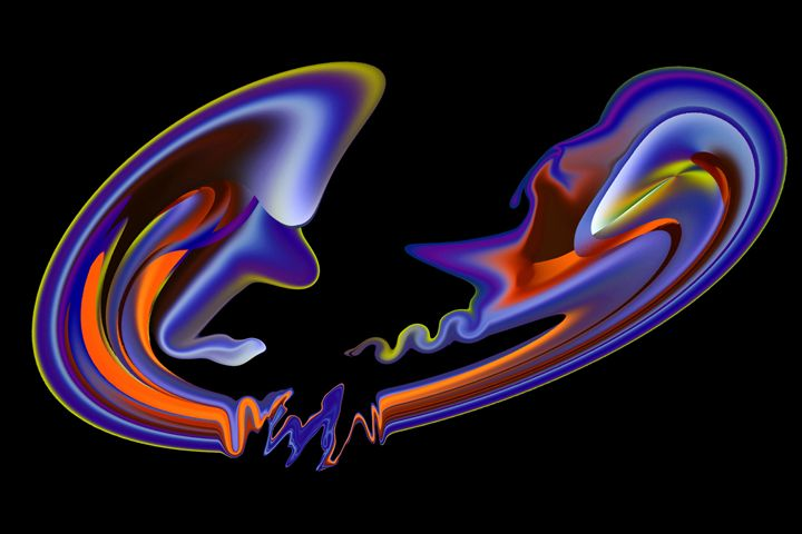 Conflict - Abstract Digital Fine Art