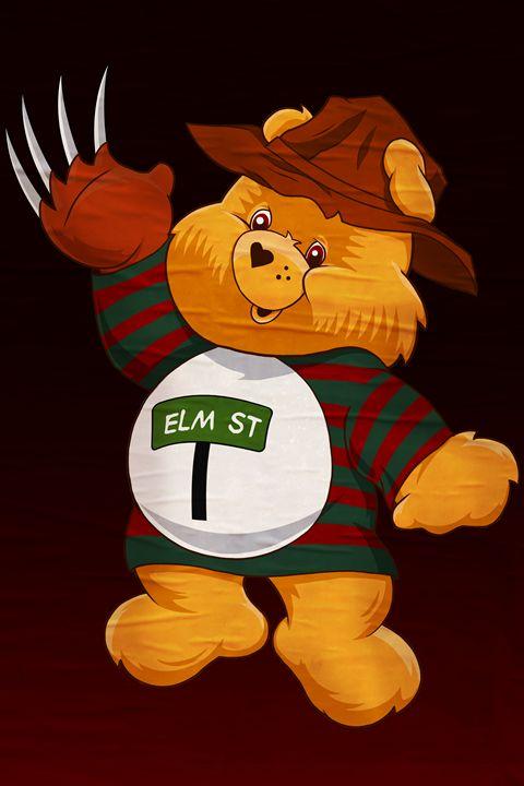 Freddy Scare Bear - Black Draws Stuff