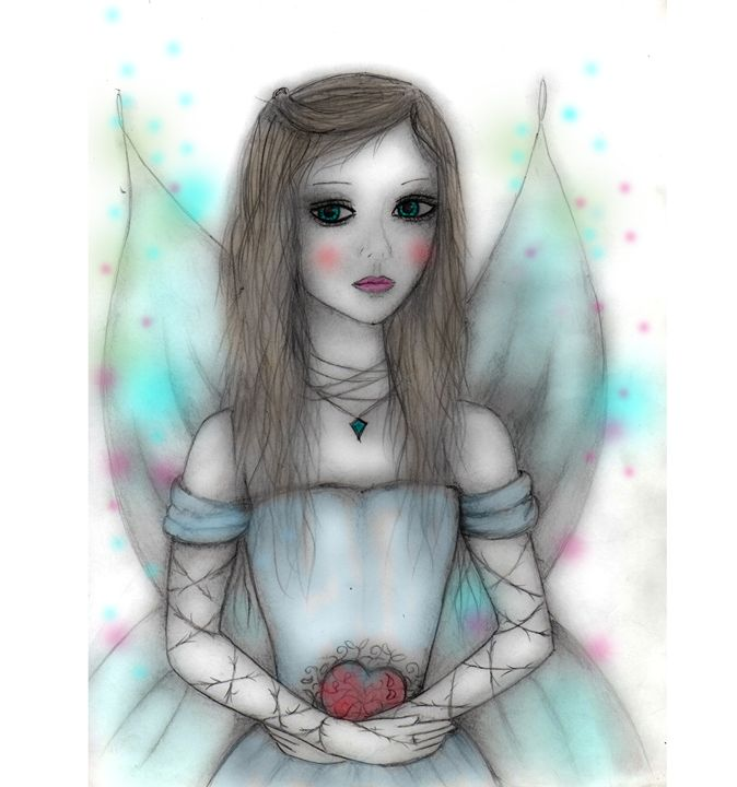 heart fairy - blueart