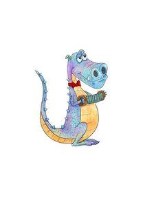 Musical Dragon - Sandijoart