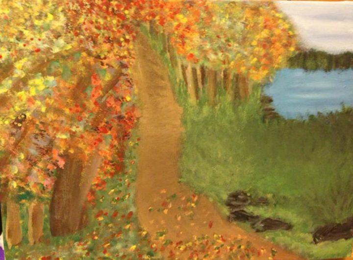 autumn path - Leanne Foster