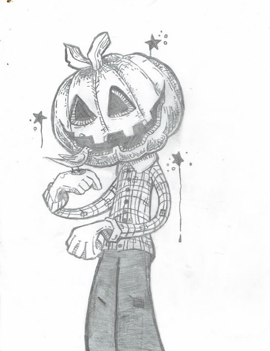 Delightful pumpkin head man - Art of BeXx