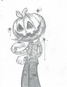 Delightful pumpkin head man