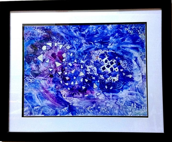 Cosmic Rollercoaster - Worx Of Wax -Encaustic Art