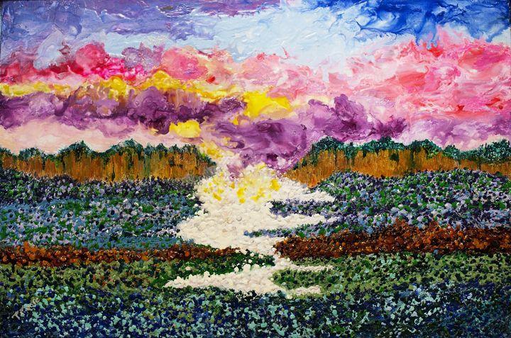 Mountains Glory - Worx Of Wax -Encaustic Art