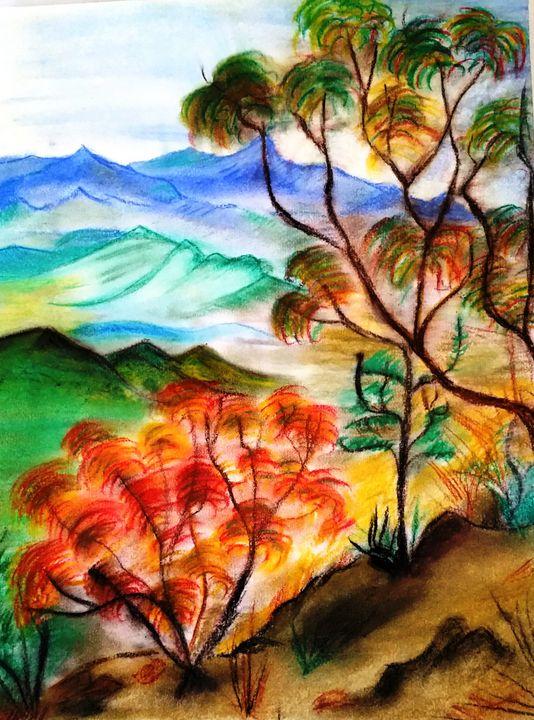 Shades of Autumn - Worx Of Wax -Encaustic Art