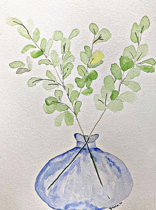 green in blue vase - 𝓦𝓲𝓵𝓭 𝓢𝓸𝓾𝓵 ꨄ