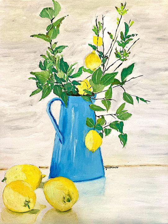 Lemons in Blue Jar - 𝓦𝓲𝓵𝓭 𝓢𝓸𝓾𝓵 ꨄ