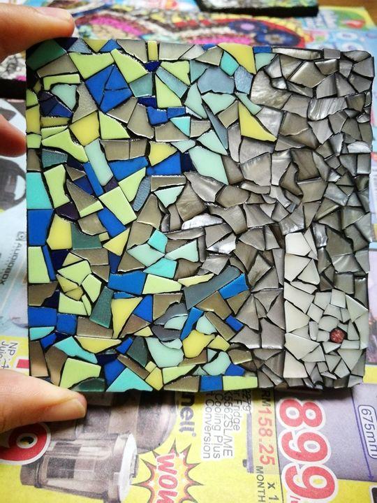 """B"" mosaic coaster - annabanana"