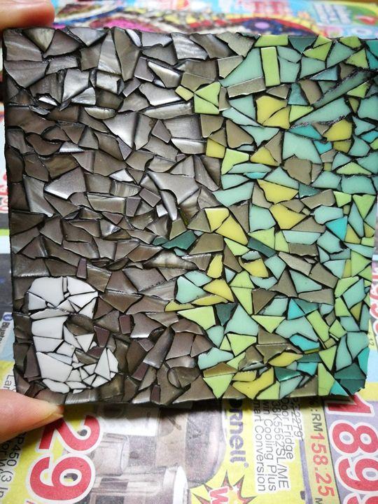 """""""E"""" mosaic coaster - annabanana"""
