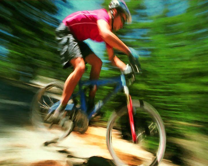 Rider In Action At Freestyle Mountai - Lanjee