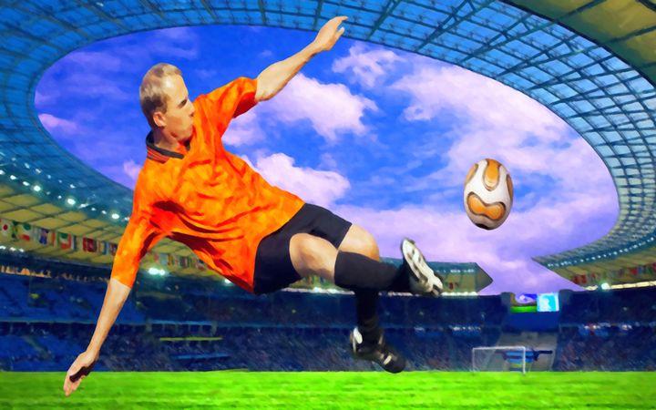Football player on field of stadium - Lanjee