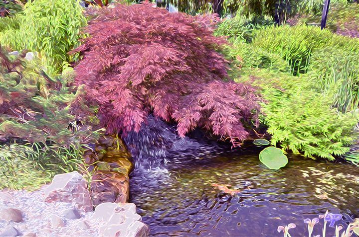 Japanese Garden waterfall - Lanjee