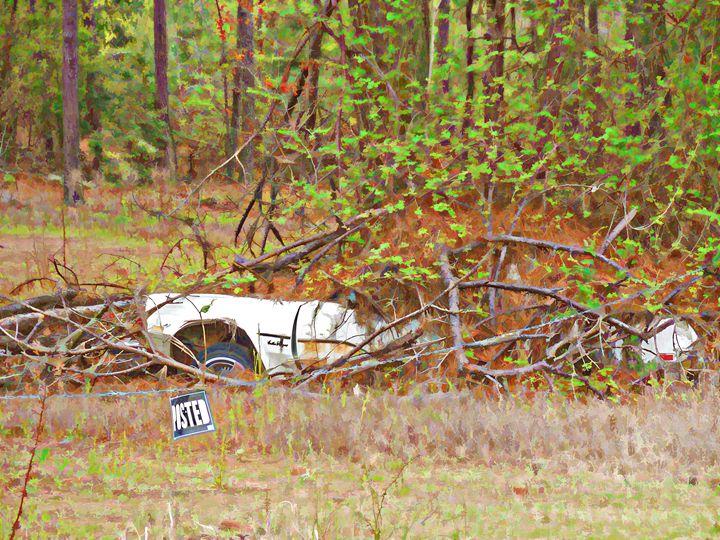 Sinking abandoned car - Lanjee