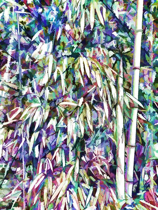Bamboo forest background - Lanjee