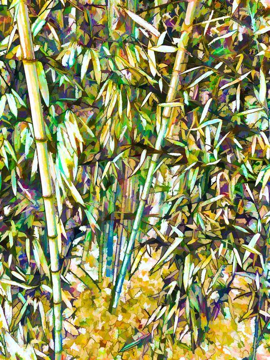 Green bamboo tree - Lanjee