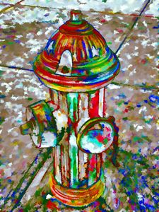 Colourful hydrant - Lanjee