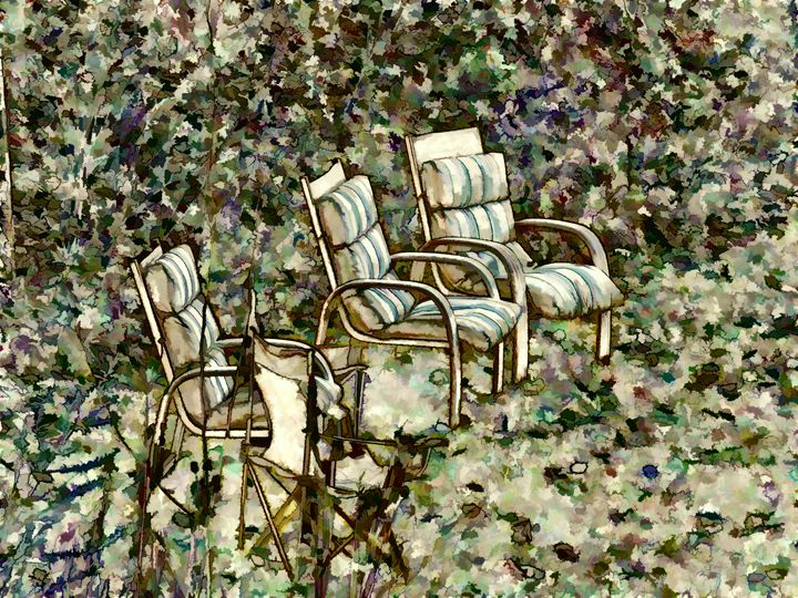 Chairs in backyard - Lanjee
