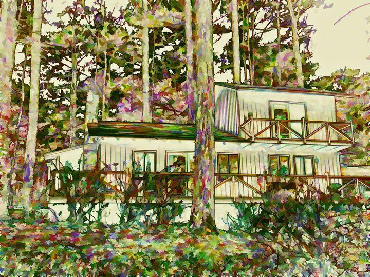 Autumn forest house - Lanjee